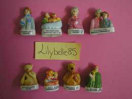 PRE Serie Complète 8 Fèves En Porcelaine BONNE NUIT LES PETITS 1999 ( Feve Miniature Figurine ) RARE - Cartoons