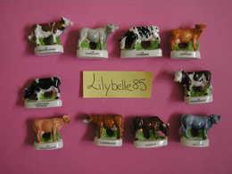 Serie Complète 10 Fèves En Porcelaine LES RACES DE VACHES 2012 ( Feve Miniature Figurine ) - Animals