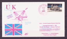 ESPACE - 1971/12 - Satellite ARIEL - Fusée Scout - NASA - 4 Documents - FDC & Commemoratives