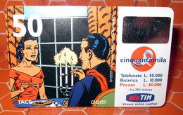 TIM £ 50.000  MANDRAKE  2001 SCHEDA  TELEFONICA PREPAGATA  USED - Italia