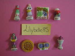 PRE Série Complète De 8 Fèves En Porcelaine émaillée - LE CASSIS 2003 ( Feve Figurine Miniature ) RARE - Fèves