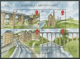 Großbritannien 1989 Baudenkmäler Industr. Revolution Block 5 Postfrisch (C24829) - Blocks & Miniature Sheets