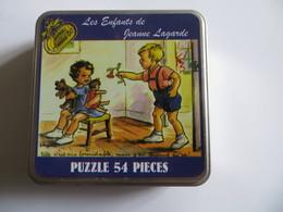 Belle Boite Métal Les Enfants De Jeanne Lagarde Contenant Un Puzzle De 54 Pièces Sous Blister - Puzzle Games