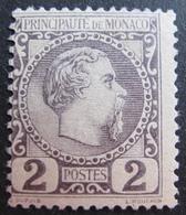FD/2351 - 1885 - MONACO - PRINCE CHARLES II - N°2 NEUF* - Cote : 82,00 € - Monaco