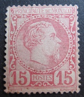 FD/2353 - 1885 - MONACO - PRINCE CHARLES II - N°5 (*) Petits Défauts - Cote : 510,00 € - Monaco
