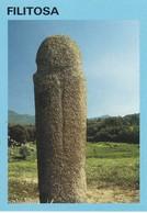 Postcard Menhir Standing Stone Filitosa Corse Symbole Phallique ? My Ref  B22976 - Dolmen & Menhirs