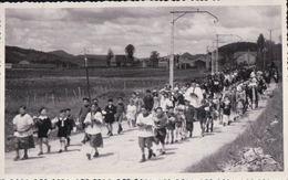 CARTE PHOTO CHAMPDOR Inauguration De La Vierge 8 Juin 1941 La Procession - France