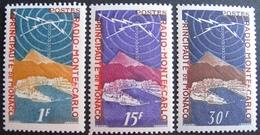 FD/2373 - 1951 - MONACO - RADIO MONTE-CARLO - N°376 à 378 NEUFS** - Cote : 31,35 € - Neufs