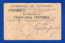Voyenne  02/2447  Pirot  25 Cts - Bonds & Basic Needs