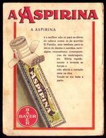 Cartão Publicitario Comprimidos BAYER / ASPIRINA. Vintage Advertising CARTOON Pills ASPIRIN. Portugal - Publicités