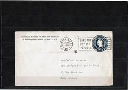 LBR40B - USA ENVELOPPE BOSTON / NANCY 28/1/1948 - 1941-60