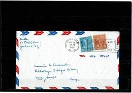 LBR40B - USA LETTRE AVION YONKERS / NANCY 13/5/1954 - Etats-Unis
