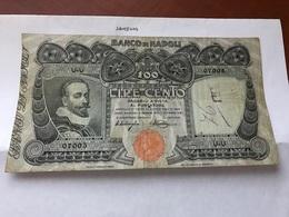 Italy Banco Di Napoli 100 Lira Banknote 1915 (?) - Andere