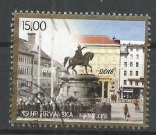 Croatia 2016. Scott #1018 (U) Statue Of Ban Josip Jelacic, Zagreb, 150th Anniv. * - Croatie