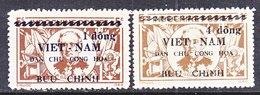 VIET MINH  1 L 39 - 40    *  ADMIRAL  GRANDIERE - Viêt-Nam