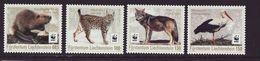 W.W.F. WWF Liechtenstein Lynx Wolf Beaver Stork MNH Perf Stamps 2017 - Unused Stamps