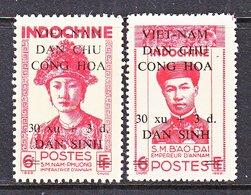 VIET MINH  1 L 55 - 56    *  EMPEROR  &  EMPRESS  OF  ANNAM - Vietnam