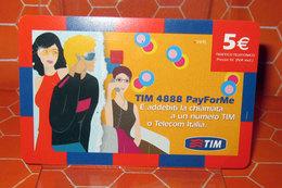 TIM € 5.00 TIM 4888 PAY FOR ME   2009  SCHEDA  TELEFONICA PREPAGATA  USED - Italia