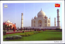 UNESCO WORLD HERITAGE SITES IN INDIA- TAJ MAHAL, AGRA - PICTURE POST CARD- INDIA POST- MNH- MC-75 - Denkmäler