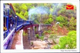 UNESCO WORLD HERITAGE SITES IN INDIA- NILGIRI MOUINTAIN RAILWAY - PICTURE POST CARD- INDIA POST- MNH- MC-75 - Monuments