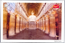 UNESCO WORLD HERITAGE SITES IN INDIA- AJANTA CAVES - PICTURE POST CARD- INDIA POST- MNH- MC-75 - Denkmäler