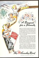 1945 Chicago Milwaukee St. Paul & Pacific Railroad Ad Publicity Babies On Train - War Time WWII WW2 - Advertising