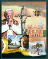 Central African Republic 2011 Famous People, Popes, John Paul II MS MUH CA11301b - Centraal-Afrikaanse Republiek