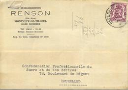 Montigny-Le-Tilleul : RENSON   Gare Bomerée    1947 - Old Paper