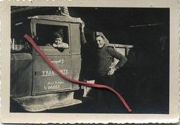 Leval - Trahegnies  :  Transport :  Brossiegaelt  G.    ( Vieux Photo 9 X 6 Cm ) - Lieux