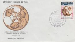 Enveloppe  FDC  1er  Jour   CONGO   Coupe  Du   Monde  De  Football   MUNICH   1974 - Coppa Del Mondo