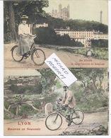 LYON  2 Cartes De SOUVENIR Avec BICYCLETTE - 020918 - Lyon