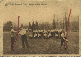 Couvin : Ecole Normal De L' état : Plaine De Jeux Sportifs  (  Grand Format 15 X 10 Cm  Ecrit Avec Timbre ) Carte NELS - Couvin