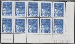 3093  3.80f  BLEU LUQUET -Demi Bas De Feuille De 10 - TD6-5 Du 23.05.97. - 1997-04 Maríanne Du 14 Juillet