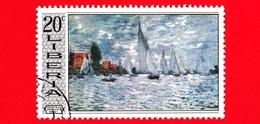 LIBERIA - Usato - 1969 - Arte - Dipinto Di Monet - Regatta At Argenteul - 20 - Liberia