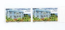 M-P11L1 TAAF FSAT Neuf** Paire La Maison Orré 2011 N°596 - Unused Stamps