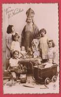 Saint-Nicolas / Sinterklaas / Santa Claus ... Enfants , Landau, Ours , Jouets ( Voir Verso ) - Saint-Nicolas
