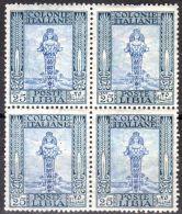 Juli 1921; Diana Von Ephesus, 4er-Block Mi-Nr. 29, Mit Wz 1, 2 X Falz Und 2 X Postfrisch, Los 50025 - Libya