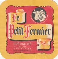 Rare  étiquette Fromage Le Petit Fermier Fabriqué En Bourgogne - Formaggio