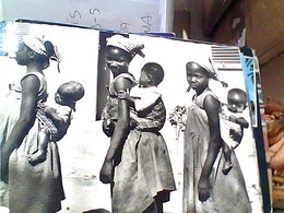 AFRIQUE BOSSANGOA Rue Des Tourelles Lyon, Jeunes FILLES BAMBINE  CON PICCOLI    VB1968 GU3376 - Cartoline