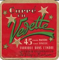 Rare  étiquette Fromage Carré En Vevette Fabriqué Dans L'Indre Laiterie Coopérative De Vicq-s-Mahon - Formaggio