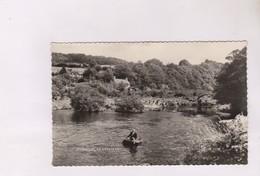 CPA PHOTO  CORACLES AT CENARTH - Pays De Galles