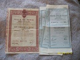 4 Rentes 3% 1945-1954 300 Francs Plus - Autres