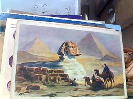 EGITTO EGIPT THE GREAT SPHINX AT GIZA PIRAMIDE E SFINGE  N1940 GU3382 - Cairo