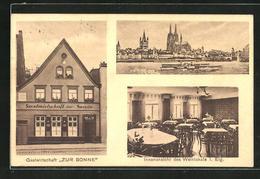 AK Köln-Deutz, Gastwirtschaft Zur Sonne Strasse Deutzer-Freiheit 7, Inh. Heinrich Hermes, Ortsansicht - Koeln