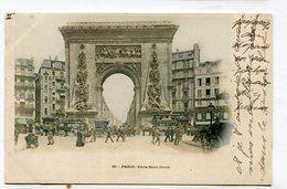 CPA  75 : PARIS  Porte St Denis Très Animée   1902  A  VOIR  !!! - France