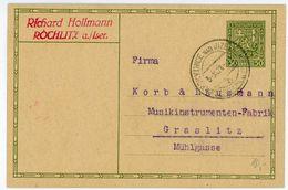 P 31 Postkarte Nach Österreich 1928 - Briefe