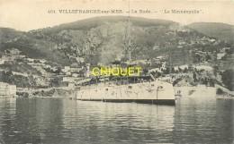 06 Villefranche Sur Mer, La Rade, Le Minnéapolis Carte Pas Très Courante Affranchie 1915 - Villefranche-sur-Mer
