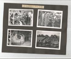 LIBAN 8 PHOTOS TIREES D'UN ALBUM 1939 (CAMP MILITAIRE FRANCAIS T2 ET SOLDATS A LA PLAGE) - Guerre, Militaire