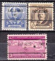 USA Precancel Vorausentwertung Preo, Locals Vermont, East Barnet 713, 5 $ Type, 3 Diff. Commemorative Stamps - Vereinigte Staaten