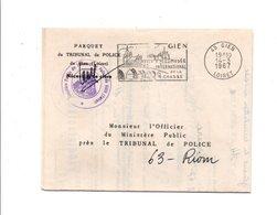 FLAMMME DE GIEN LOIRET 1967 - Annullamenti Meccanici (pubblicitari)